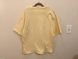 Bill Blass Light Yellow 100% cotton T-Shirt, Size M image 3