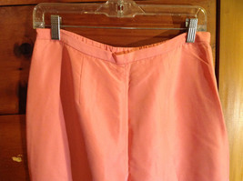 2 Piece Pink Orange Sleeveless Shirt and Pant Set David Warren New York Size 12 image 6