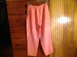 2 Piece Pink Orange Sleeveless Shirt and Pant Set David Warren New York Size 12 image 10