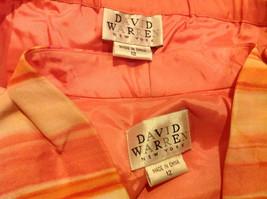 2 Piece Pink Orange Sleeveless Shirt and Pant Set David Warren New York Size 12 image 11