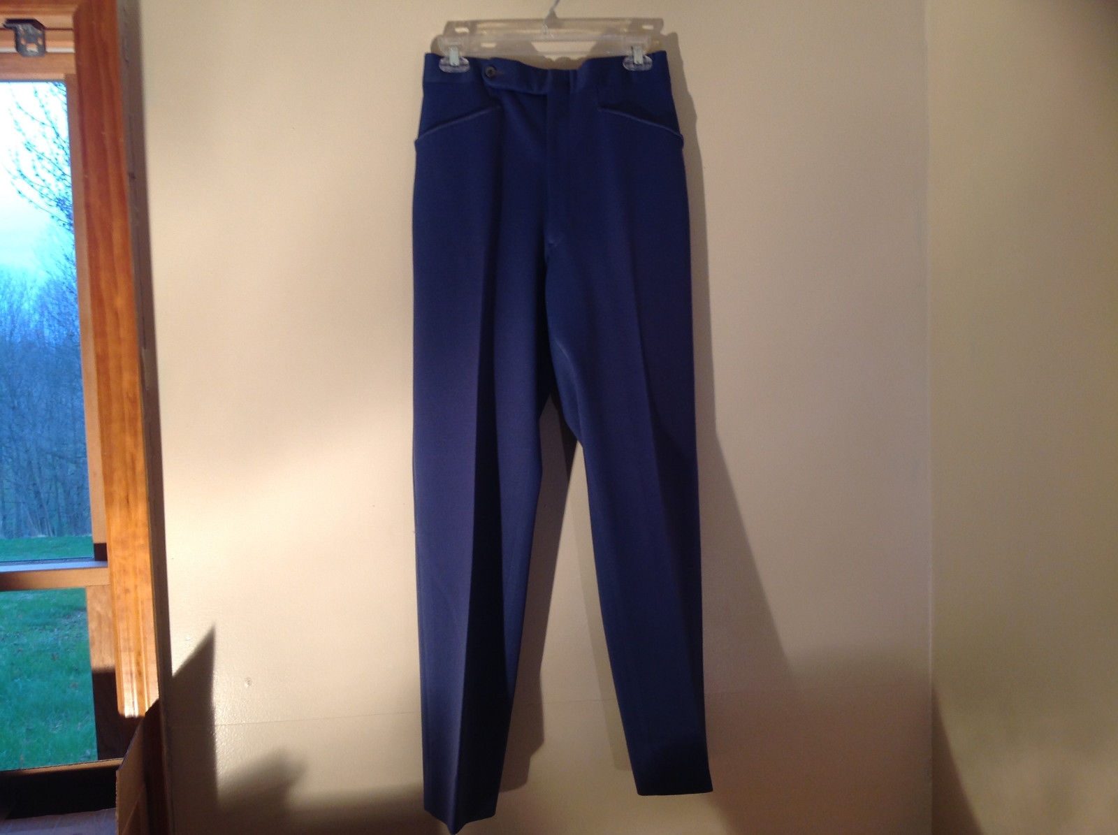 Blue Four Pocket Graham and Gunn LTD Dress Pants Zip Clasp Button Closure