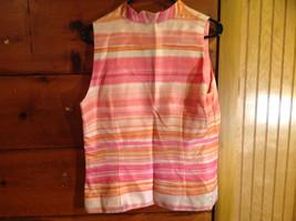 2 Piece Pink Orange Sleeveless Shirt and Pant Set David Warren New York Size 12 image 4