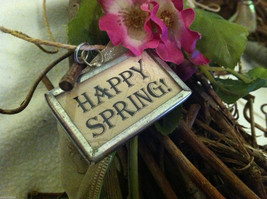 """2 Sided Charm - chicks hatching from egg and """"Happy Spring"""" image 3"""