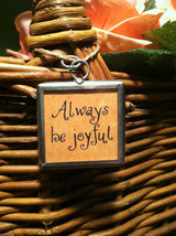 """2 Sided Charm - Daffodils and """"Always be joyful"""" in metal frame image 3"""