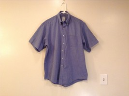 Blue Short Sleeve Brooks Brothers 100 Percent Cotton Button Up Shirt Size 16.5