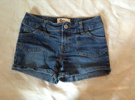 Blue Jean Shorts by SO Front and Back Pockets Zipper and Button Closure Size 12