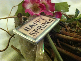 """2 Sided Charm - chicks hatching from egg and """"Happy Spring"""" image 4"""