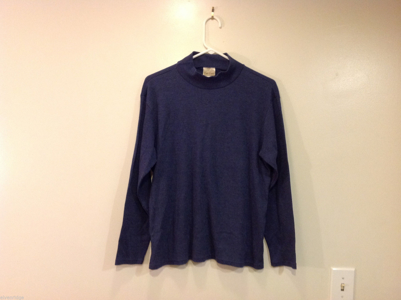 Bobbie Brooks Dark Blue Turtleneck Sweater, Size L (12/14)