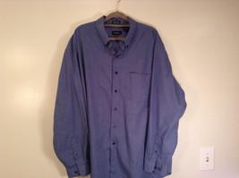 Blue Plaid Long Sleeve Van Hensen Wrinkle Free Stain Shield Shirt Size XL image 1