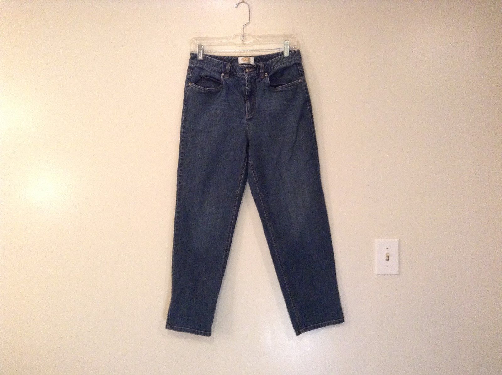 Blue Jeans Talbots Petites Stretch Size 8 Front and Back Pockets