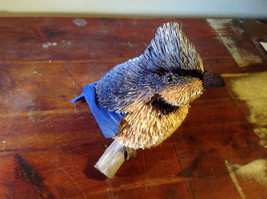 Blue Jay Buri Palm Fiber Brush Decoration Eco Fiber Sustainable Handmade