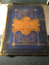 Blue L Academia 1878 Spanish Book Appears to be Encyclopedia or Reference Book