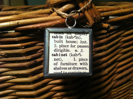 2 Sided Charm - Cabin in the Woods w/ Definition in metal frame image 3