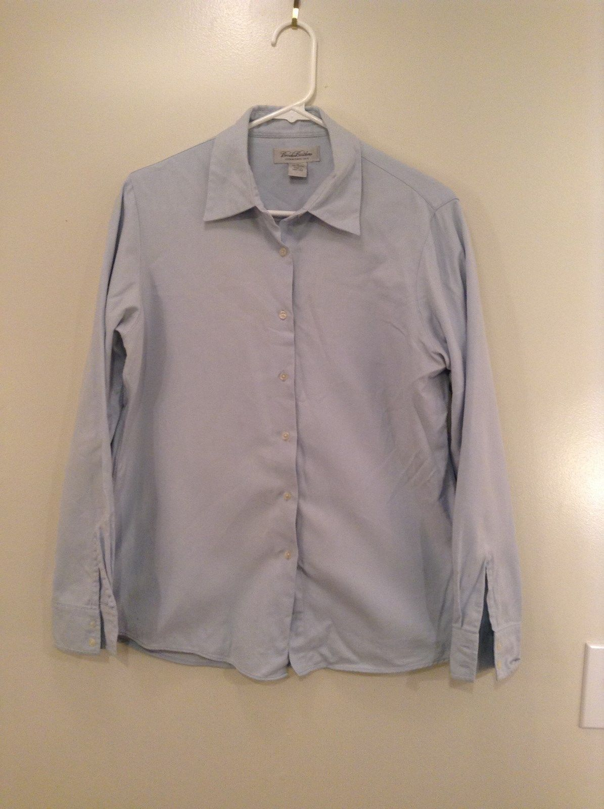 Blue Long Sleeve Button Up 100 Percent Cotton Brooks Brothers Shirt Size Medium