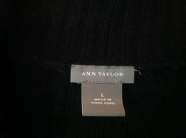Black Ann Taylor Long Sleeve Sweater Size Large image 2