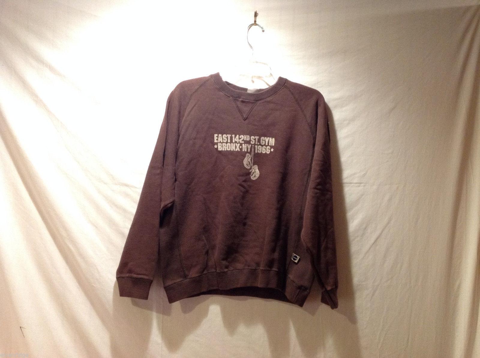 Blue Marlin Kids Brown Sweatshirt Est.142nd St. Gym Bronx NY 1966, Size L(14-16)