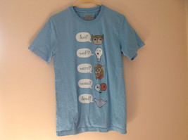 Blue Hoo Watt Were Venn Howl Graphic Short Sleeve T-Shirt Threadless Size M