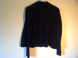 Black Ann Taylor Long Sleeve Sweater Size Large image 3