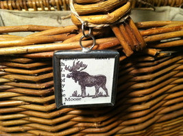 2 Sided Charm - Moose w/ Definition in metal frame image 2