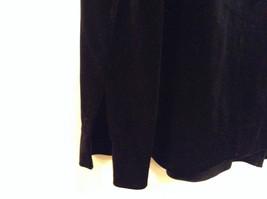 Black Annex Casual Corner Velvet Skirt Size 1X Elastic Waist Slits Back and Side image 4