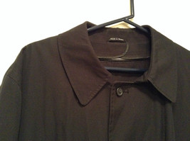 Black All Weather Trench Coat Size 46 Short Thermolite Insulating Lining image 2