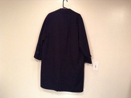 Black All Weather Trench Coat Size 46 Short Thermolite Insulating Lining image 5