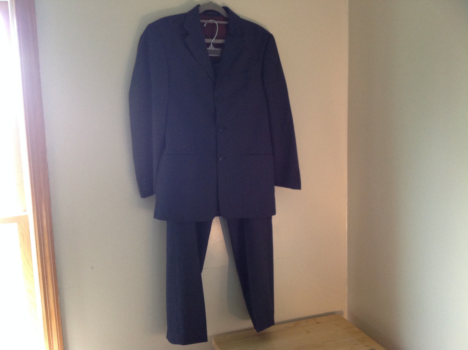 Blue Pin Striped Matching Jacket and Pants by Mossimo See Measurements Below
