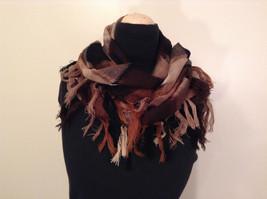Black Brown Beige Tan Plaid Fashionable Scarf Wrap Shawl Length 42 Inches image 2