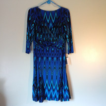 Blue and Black Design New Dress with Tag V Neckline Size 8 and Size 10