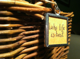 """2 Sided Charm - """"Lake Life is Best"""" and picture of Camp Site in metal frame image 5"""