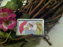 "2 Sided Charm - Spring chick with umbrella and ""April Showers Bring May Flowers"" image 4"