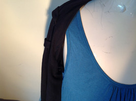 Black Cardigan Short Sleeves Blue Tank Top All In One Very Fashionable Size XL image 3