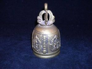 Brass Bell Ornate Handle Missing Ringer Indonesian