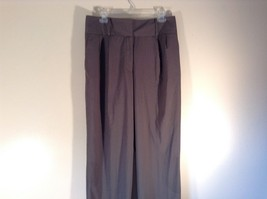 Body by Victoria Size 14 Short Dark Gray Pleated Dress Pants Wide Waistband