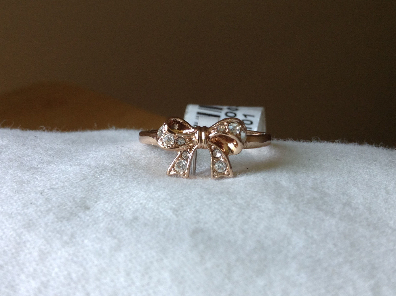 Bow with Crystal Accents Gold Plated Ring Size 6.5 by Rigant