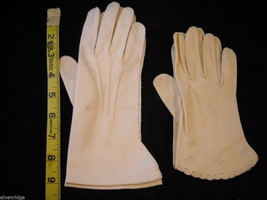 2 Vintage pairs of  White Gloves image 4