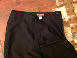 Black Dress Pants by Banana Republic Wide Bottoms Good Condition Size 4 image 7