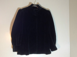 Borgessa By Casper Black Fur Coat Collar 2 Front Hooks Clasps See Below for Size