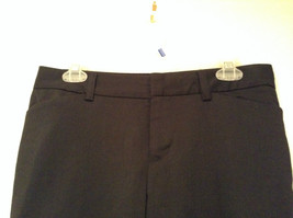 Black Dress Pants by GAP Original Size 4 Long Stretch Flare Two Front Pockets image 2