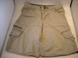 Boys cargo Shorts Khaki size 16 100% cotton