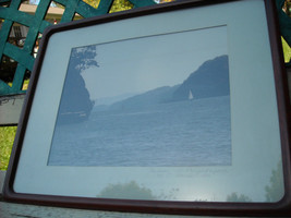 2 framed photographic images of Hudson river Poughkeepsie and Crumb Elbow Harris image 3