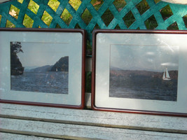 2 framed photographic images of Hudson river Poughkeepsie and Crumb Elbow Harris image 2