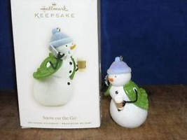 Brand New Christmas Hallmark Keepsake Snowman Snow on the go NIB