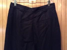 Black Giorgio Saint Angelo 100 Percent Wool Dress Pants Zipper Buttons Closure image 5