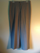 Briggs New York Gray Dress Pants Size 10 No Belt Loops Zipper and Button Closure