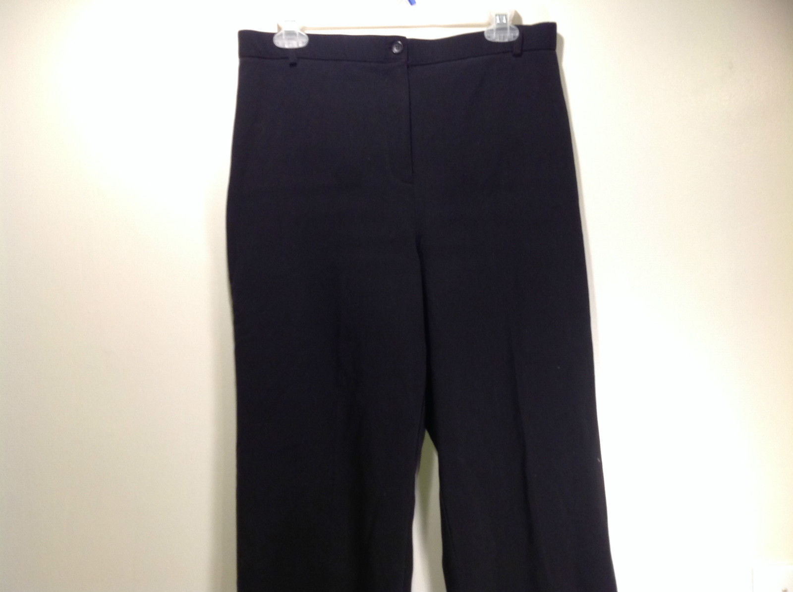 Briggs New York Size 12 Black Dress Pants Button and Zipper Front Closure