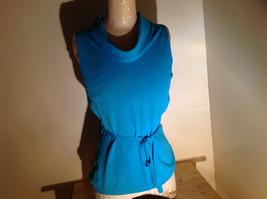 Bright Blue Sleeveless Scoop Neck Shirt by Amanda Smith Size Medium
