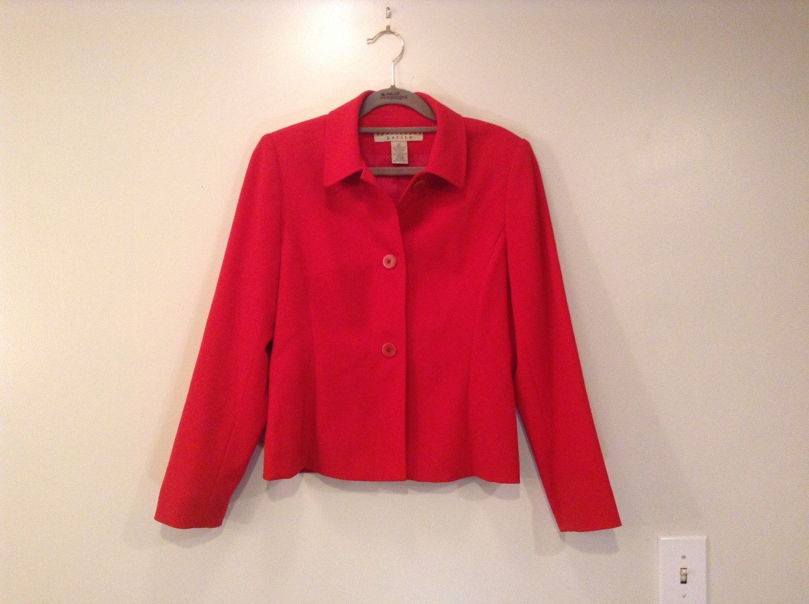 Bright Red Apostrophe Petite Fully Lined Light Jacket Blazer Size 6P