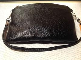 Black Half Bow Clutch Bag with Zipper Closure Mountain Mama Long Shoulder Strap image 8
