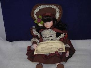 Brinns Collectible Edition Doll 1986 w/ Brown Dress